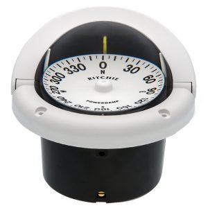 Ritchie HF-742W Helmsman Compass - Flush Mount - White