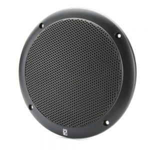 "Poly-Planar 4"" 2-Way Coax Integral Grill Marine Speaker - (Pair) Black"