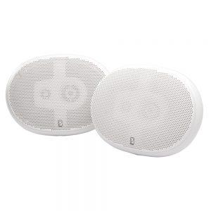 "Poly-Planar 6"" x 9"" Premium Oval Marine Speakers - (Pair) White"