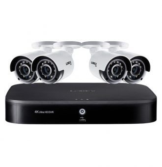 Lorex DK182-48CAE 4K Ultra HD 8-Channel Security System with 2 TB DVR and Four 4K Ultra HD Color Night Vision Bullet Cameras with Smart Home Voice Control