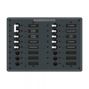 Blue Sea 8564 Breaker Panel - AC Main + 14 Positions (European) - White
