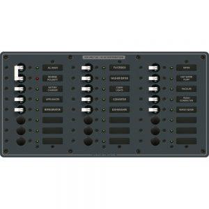 Blue Sea 8565 Breaker Panel - AC Main + 22 Positions (European) - White