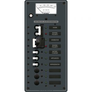 Blue Sea 8589 AC Toggle Source Selector (230V) - 2 Sources + 6 Positions