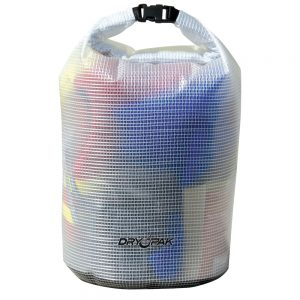 "Dry Pak Roll Top Dry Gear Bag - 12-1/2"" x 28"" - Clear"