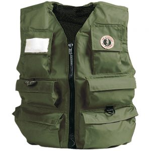 Mustang Inflatable Fisherman's Vest - Manual - XL - Olive