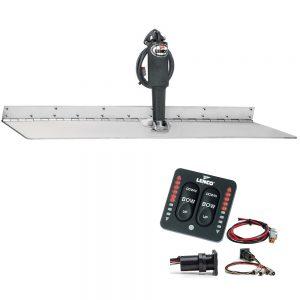 """Lenco 12"""" x 18"""" Super Strong Trim Tab Kit w/LED Indicator Switch Kit 12V"""