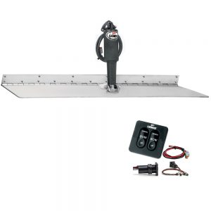 "Lenco 12"" x 24"" Super Strong Trim Tab Kit w/Standard Tactile Switch Kit 12V"
