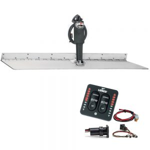"""Lenco 12"""" x 24"""" Super Strong Trim Tab Kit w/LED Indicator Switch Kit 12V"""