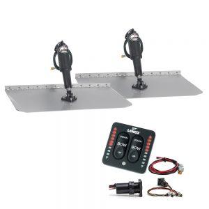 """Lenco 12"""" x 30"""" Standard Trim Tab Kit w/LED Indicator Switch Kit 12V"""