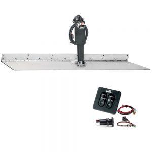 "Lenco 12"" x 30"" Super Strong Trim Tab Kit w/Standard Tactile Switch Kit 12V"