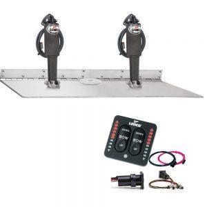 """Lenco 16"""" x 24"""" Dual Actuator Super Strong Trim Tab Kit w/LED Indicator Switch Kit 12V"""