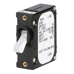 Paneltronics 'A' Frame Magnetic Circuit Breaker - 15 Amps - Single Pole