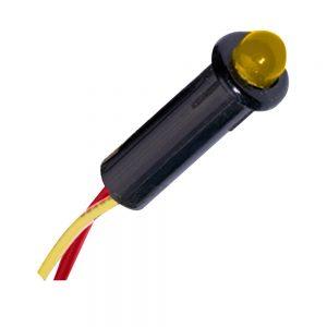 "Paneltronics LED Indicator Light - Amber - 24 VDC - 1/4"""