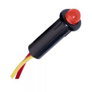"Paneltronics LED Indicator Light - Red - 120 VAC - 1/4"""