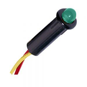 "Paneltronics LED Indicator Light - Green - 120 VAC - 1/4"""
