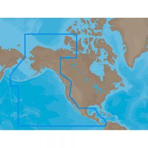 C-MAP MAX NA-M035 - Pacific Coast & Central - SD™ Card