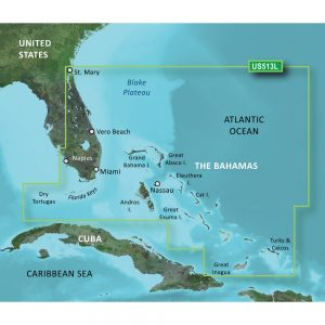 Garmin BlueChart® g3 Vision® HD - VUS513L - Jacksonville - Bahamas - microSD™/SD™