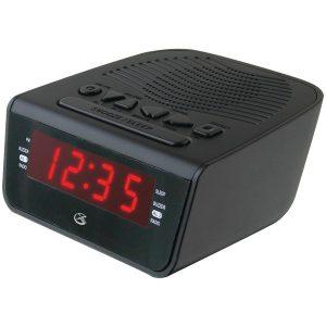 "GPX C224B .6"" LED AM/FM Alarm Clock"
