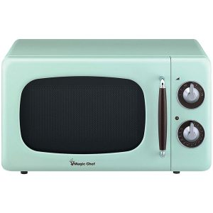 Magic Chef MCD770CM .7 Cubic-ft 700-Watt Retro Microwave (Mint Green)