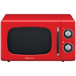 Magic Chef MCD770CR .7 Cubic-ft 700-Watt Retro Microwave (Red)