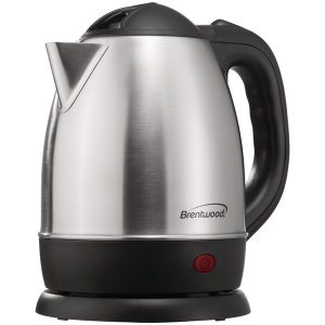 Brentwood Appliances KT-1770 1.2-Liter Stainless Steel Cordless Electric Kettle