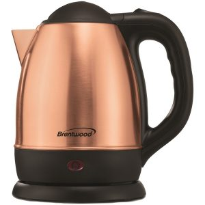 Brentwood Appliances KT-1770RG 1.2-Liter Stainless Steel Cordless Electric Kettle (Rose Gold)