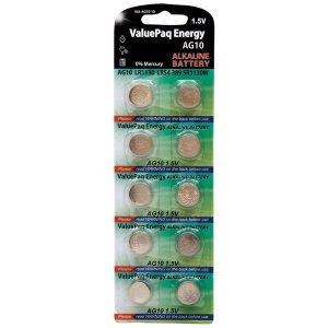 Dantona VAL-AG10-10 ValuePaq Energy AG10 ALkaline Button Cell Batteries