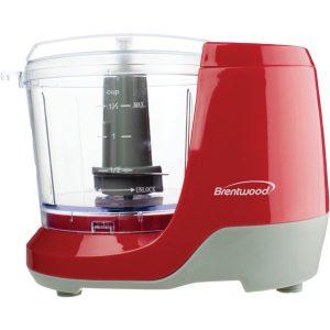 Brentwood Appliances MC-109R 1.5-Cup Mini Food Chopper (Red)