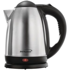 Brentwood Appliances KT-1790 1.7-Liter Stainless Steel Cordless Electric Kettle (Brushed Stainless Steel)