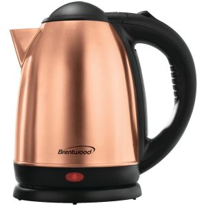 Brentwood Appliances KT-1790RG 1.7-Liter Stainless Steel Cordless Electric Kettle (Rose Gold)