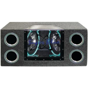Pyramid Car Audio BNPS102 Dual Bandpass System with Neon Accent Lighting (10""