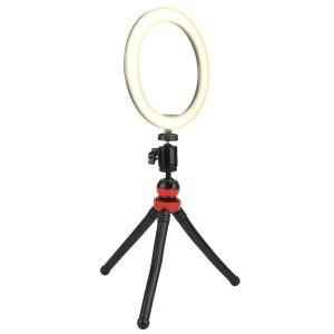 Vivitar VIV-RL10KIT 10-Inch Streaming Essentials LED Ring Light with Spider Tripod and Phone Mount