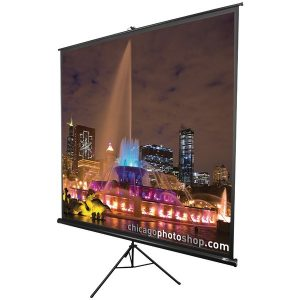 "Elite Screens T119UWS1 Tripod Series Projection Screen (1:1 Format; 119""; 84"" x 84"")"