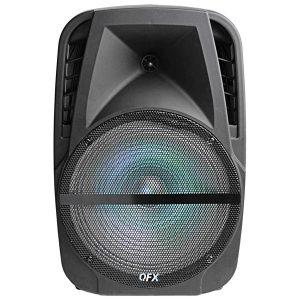 QFX PBX-BF120 12-Inch LED Lighting Bluetooth Portable Speaker