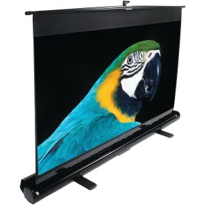 "Elite Screens F120NWH 16:9 ezCinema Series Floor-Standing Pull-up Projector Screen (120""; 59.1"" x 105"")"