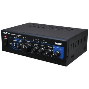 Pyle Home PTA4 120-Watt x 2 Mini Stereo Power Amp