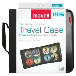 Maxell 190163 CD/DVD Travel Case (128 capacity)