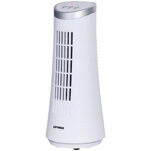 "Optimus F-7345WH 12"" Desktop Ultraslim Oscillating Tower Fan (White)"