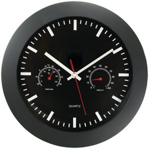 "Timekeeper 6990 12"" Temperature & Humidity Wall Clock"