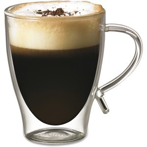 Starfrit 080056-006-FOAM 12-Ounce Double-Wall Glass Coffee Cup