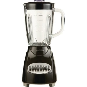 Brentwood Appliances JB-920B 42-Ounce 12-Speed + Pulse Electric Blender with Glass Jar (Black)