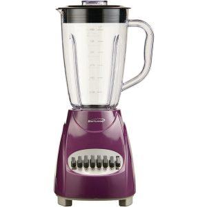 Brentwood Appliances JB-220PR 50-Ounce 12-Speed + Pulse Electric Blender with Plastic Jar (Purple)