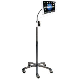 CTA Digital PAD-SHFS Heavy-Duty Security Gooseneck Floor Stand for iPad/Tablet