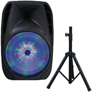 "Supersonic IQ-4415DJBT 15"" Portable Bluetooth DJ Speaker with Stand"