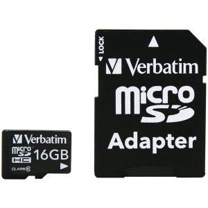 Verbatim 44082 microSDHC Card with Adapter (16GB; Class 10)
