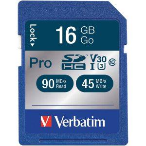 Verbatim 98046 Pro 600x SDHC Card (16GB)