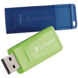 Verbatim 98713 16GB Store 'n' Go USB Flash Drive (2 pk; Blue & Green)