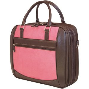 "Mobile Edge MESFEBX 16"" PC/17"" MacBook ScanFast Element Briefcase (Pink Suede)"