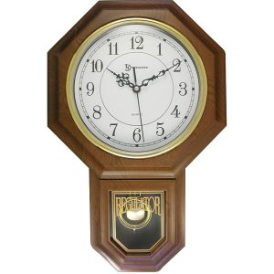 "Timekeeper 180WAGM Essex 18.75"" Modern Pendulum Wall Clock (Faux Wood)"