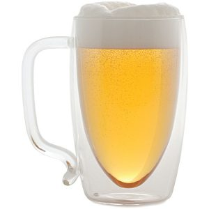 Starfrit 080061-006-0000 17-Ounce Double-Wall Glass Beer Mug
